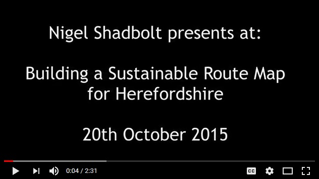 Nigel Shadbolt talk